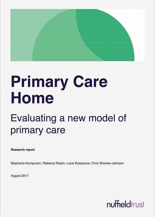 Primary Care Home: Evaluation of the Model