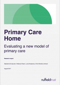 New evaluation: the primary care home model is 'a strong
