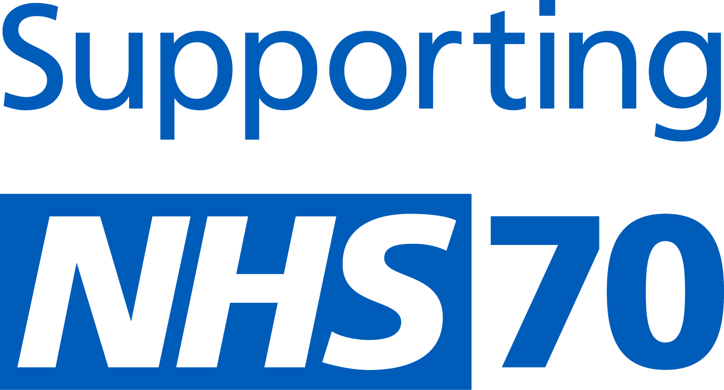 Supporting NHS 70 logo